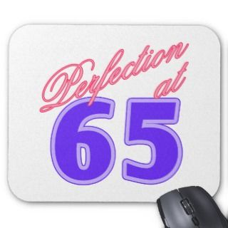 65th Birthday Gift Idea Mouse Mats