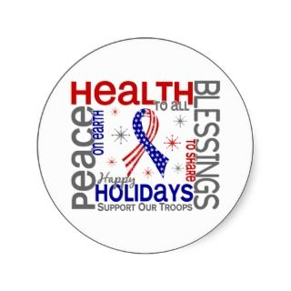 Christmas 4 Support Our Troops Sticker