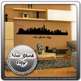 Wandtattoo ★ New York City ★ Skyline Wandaufkleber USA Amerika