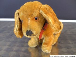 Steiff 4165 17 Hund 17 cm Bazi Jungdackel Druckstimme RAR