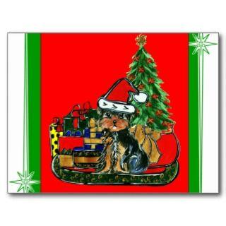 Christmas Yorkie Poo Postcards