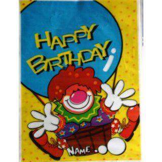 10 Geschenktaschen Happy Birthday Clown Spielzeug