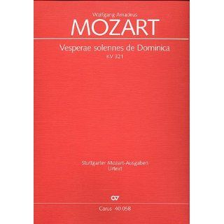 Mozart Vesperae solennes de Dominica (KV 321). Partitur