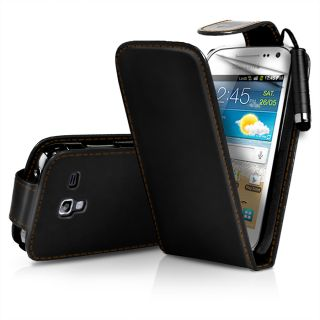 Flip Leather Case Cover II For Samsung I8160 Galaxy Ace 2 II + Film
