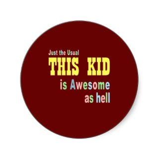 Kids clothing stores online round sticker