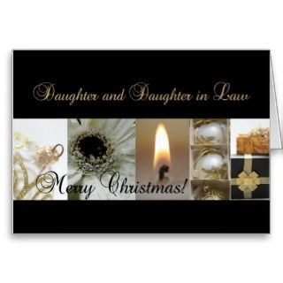 Daughter and Daughter in Law Christmas collage Card