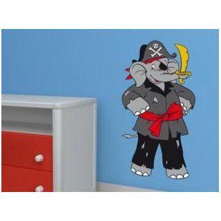 Wandtattoo   Benjamin Blümchen als Pirat Spielzeug