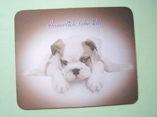 Mousepad Mops Innerlich tobe ich Textil