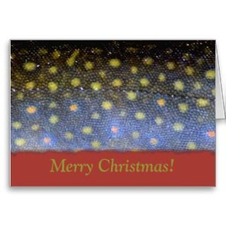 fly fishing themed christmas card card features the image of a close