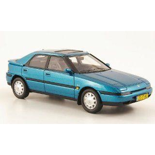 Mazda 323 F, met. blau, 1992, Modellauto, Fertigmodell, Neo 143