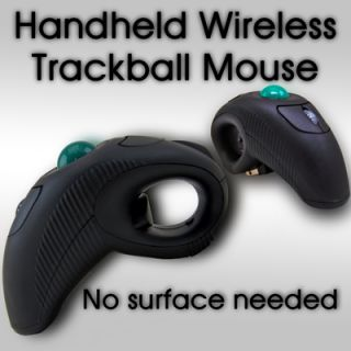 Finger Hand Held Wireless Mouse Maus USB Trackball Laser Pointer