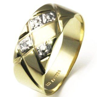 Goldmaid Damen Ring 333 Gold Bicolor 1 Diamant Gr. 56 Pr R43GG56
