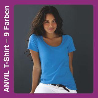 A391 Women`s Sheer Scoop Neck Tee T Shirt Shirt Shirts Damen kurzarm