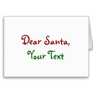 Dear Santa Custom Cards
