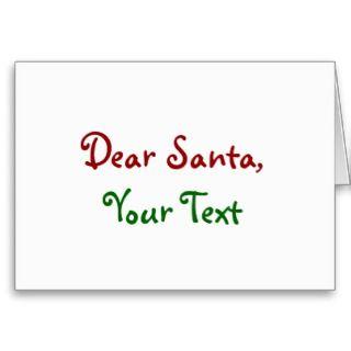 Dear Santa Custom Cards