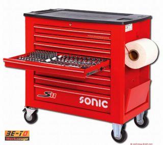 SONIC   S11 Werkstattwagen 644 tlg   Farbe rot 764417