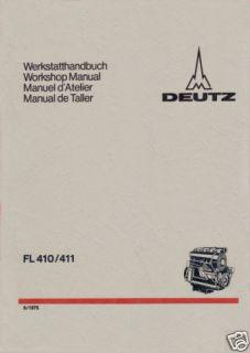 Werkstatthandbuch Deutz Diesel Motor F1/2L 410/411 D/W.