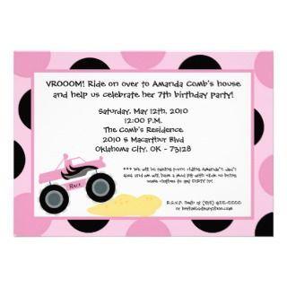 5x7 Invite   Girl Rock Star Birthday Invitation
