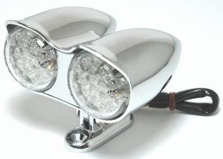 12V Doppel LED Custom Chrom Rücklicht für Harley Suzuki Yamaha