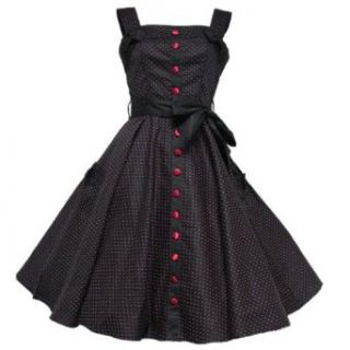 Hell Bunny 50er Party Pin Up Kleid Gery Rot Punkte