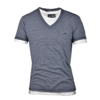AJ Armani Jeans T Shirt navy/weiß Bekleidung