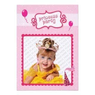 Princesa Party Invitacion Personalizada de