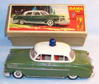 GAMA 410 Opel Kapitän Polizei, 50er Original im OK (22238)