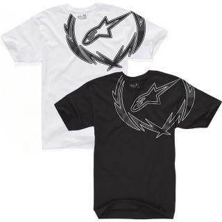 ALPINESTARS 2012 GENUINE METAL WREATH CREW NECK TEE COTTON CLOTHING T