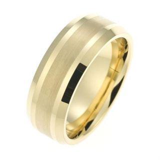 Moderner Wolfram/Tungsten Ring CORE Ringe der EXTRAKLASSE TW012.3/gold