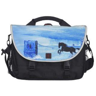 black war horse laptop commuter bag
