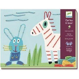 Karten zum Sticken Tiermotiv Kreativspiel Basteln