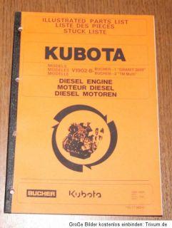 KUBOTA Diesel Motor V 1902   B   Bucher 1 Granit 2800 2 TM Multi