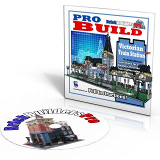 Train Station Victorian, modular Instructions CD PDF Custom Lego 10218