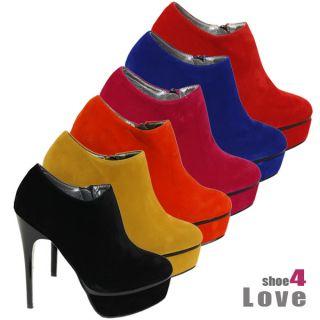 Damenschuhe RMD 437 Ankle Boot Stiefelette Pumps Plateau High Heels