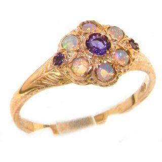 Damen Ring 9 Karat (375) Rotgold mit Amethyst Opal   Größe 50 (15.9