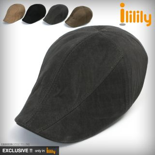 ililily New Mens Cotton Flat Cap Cabbie Hat Gatsby Ivy Caps Irish