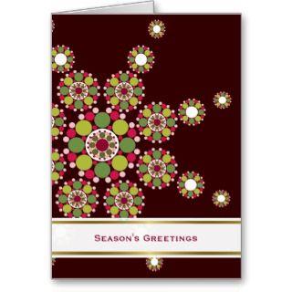 Festive Retro Holiday Star Photo Greeting Card