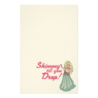 Blonde Belly Dancer Shimmies stationery by LacyChenault