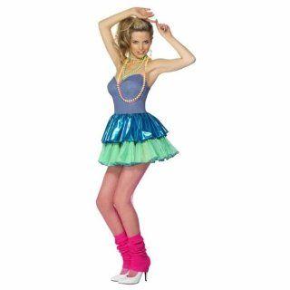 80er Jahre Kostüm Nena Kleid Aerobic Popstar Aerobickkostüm