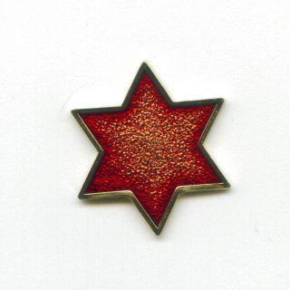 Jewish Star of David Hexagramm Symbol Badge Pin Pins Anstecker 446