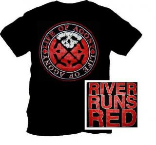 LIFE OF AGONY River Runs Red Metal T SHIRT Size S