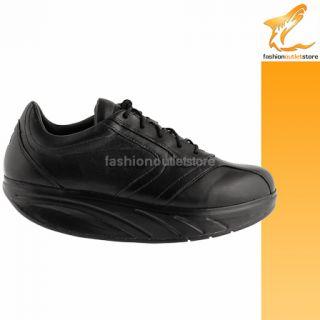Damen schuhe MBT 37 sneakers schwarz leder AC144 B