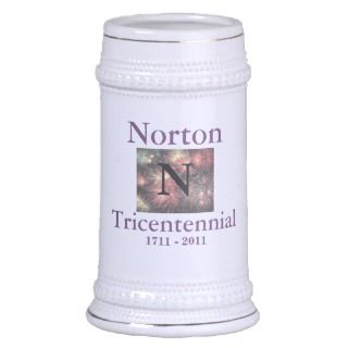 Norton Tricentennial 1711   2011 White Stein Mugs