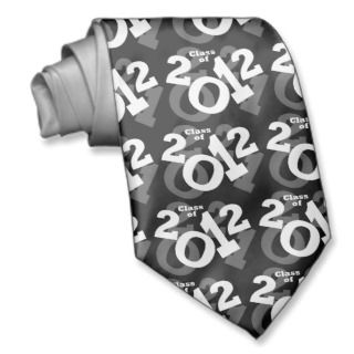 Playful Numbers, Class of 2012 Graduation Design Custom Tie