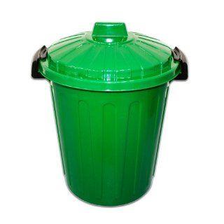 Abfalleimer mülleimer verschließbar mit deckel 25liter grün