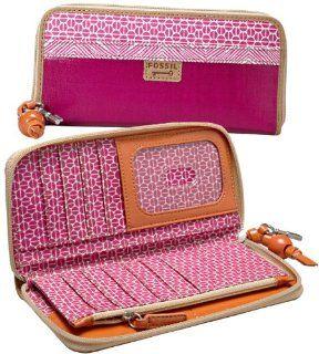 Fossil Key Per Clutch Geldbörse Portemonnaie Pink Magenta