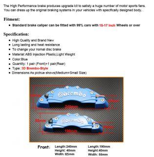 vorne+Heck Bremssattel Brake Caliper cover universal