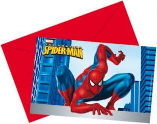Einladungskarten MARVEL Spider Man Kindergeburtstag Kinder Party