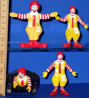 Ronald McDonald McDonalds 4 Figuren Trickmobil !