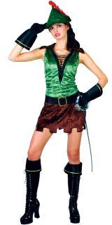 Sexy Robin Hood Verkleidung für Frauen Karneval Fasching Halloween